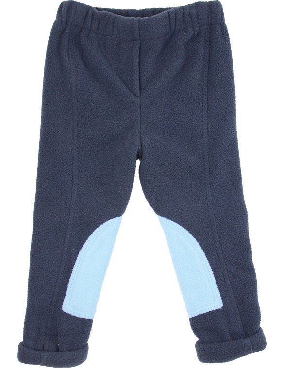 Hyperformance Fleece Tots Jodhpurs In Navy Sky Blue Boys